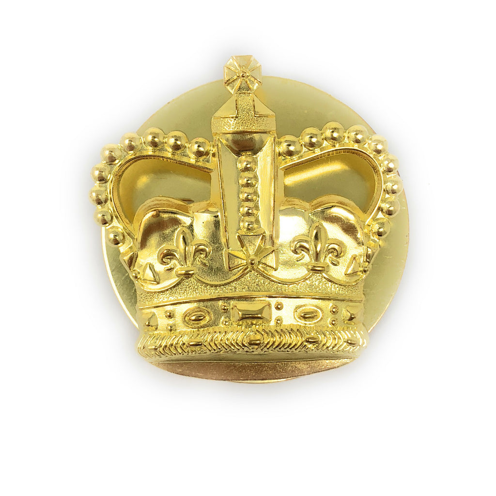 Metal Crown WO2 (CSM) - Brass w. Back Plate - Shank Fitting