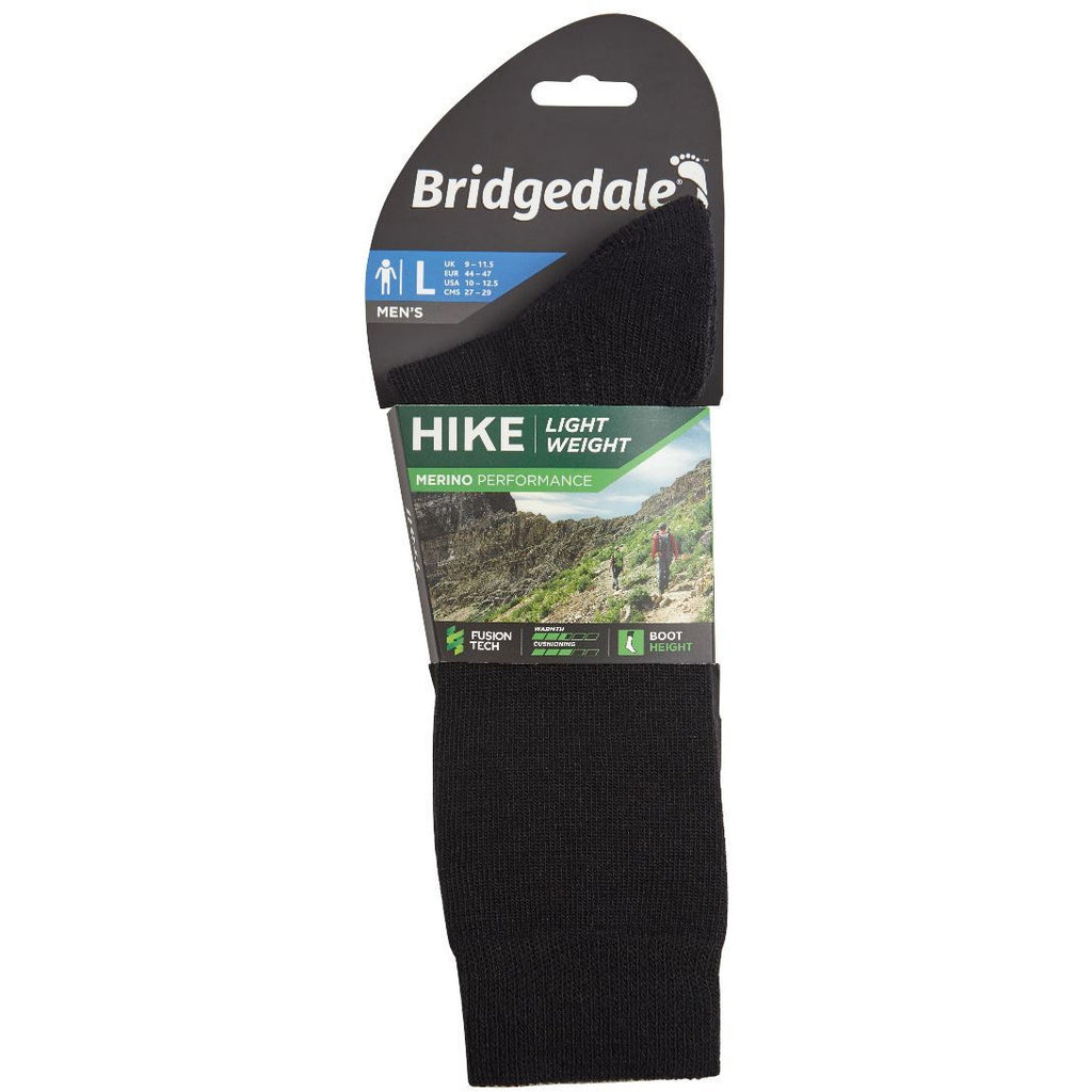 Bridgedale Hike Lightweight Merino Performance Boot Original Mens - (Black) (Previously Trail)