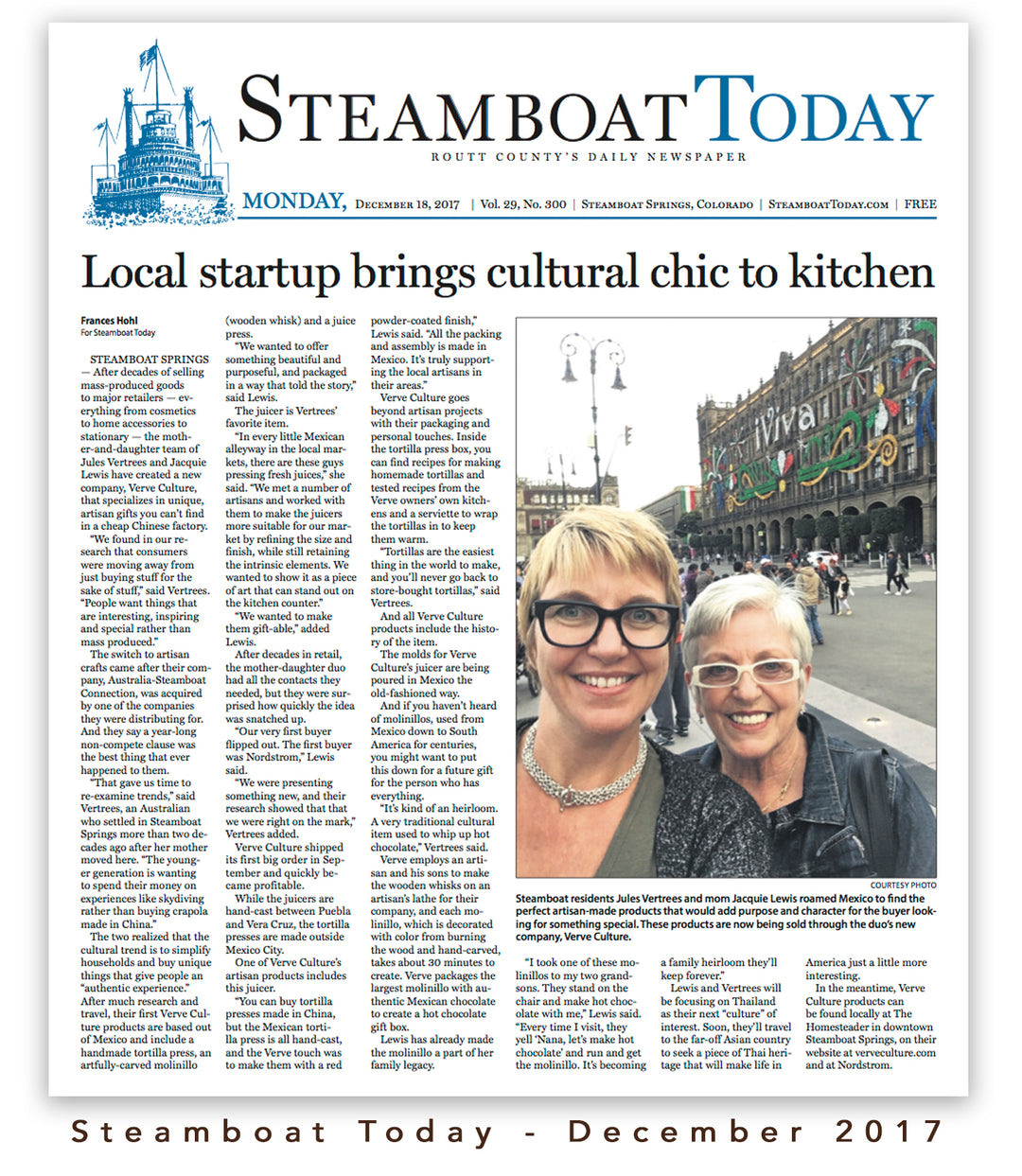 Steamboat Today - Local startup brings cultural chic to kitchen
