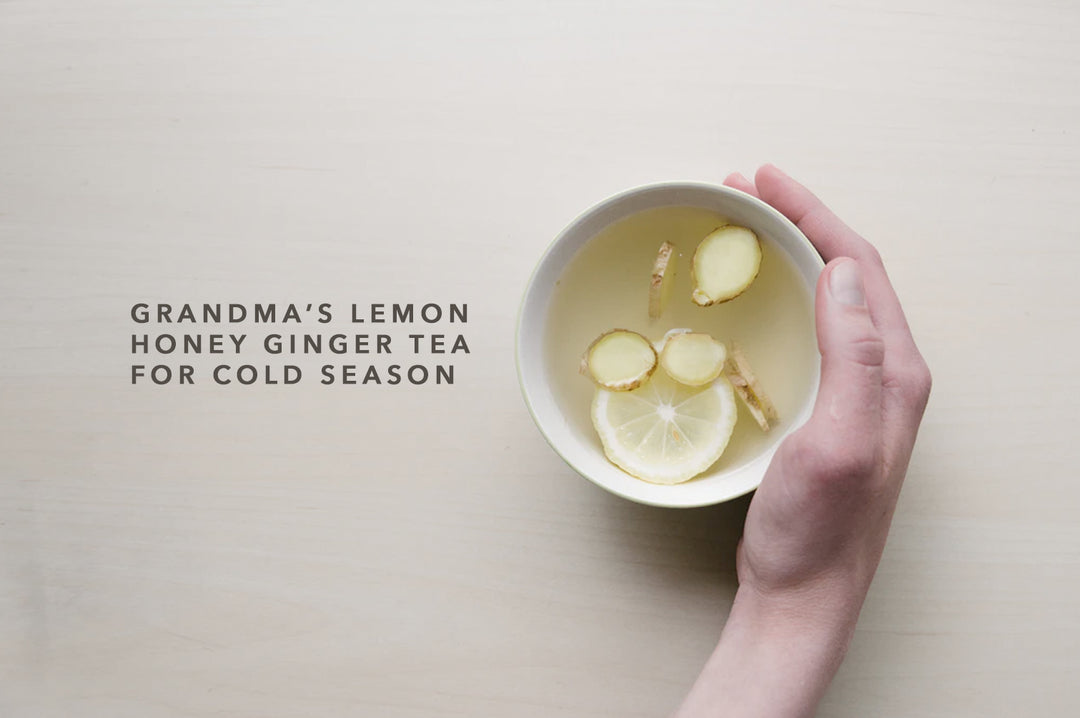 Grandma's Lemon Honey Ginger Tea for Cold Season