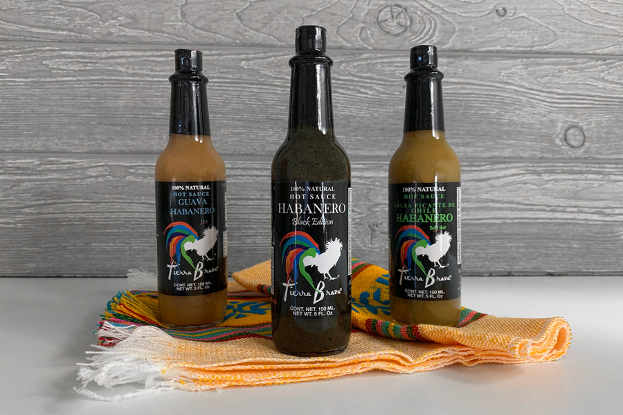 Habanero Hot Sauce Trio & Servilleta