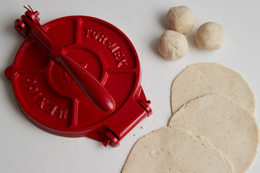 Red Cast Iron Tortilla Press Street Taco Tortilla Press