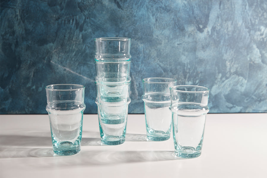 Moroccan Beldi Glassware - Set of 6