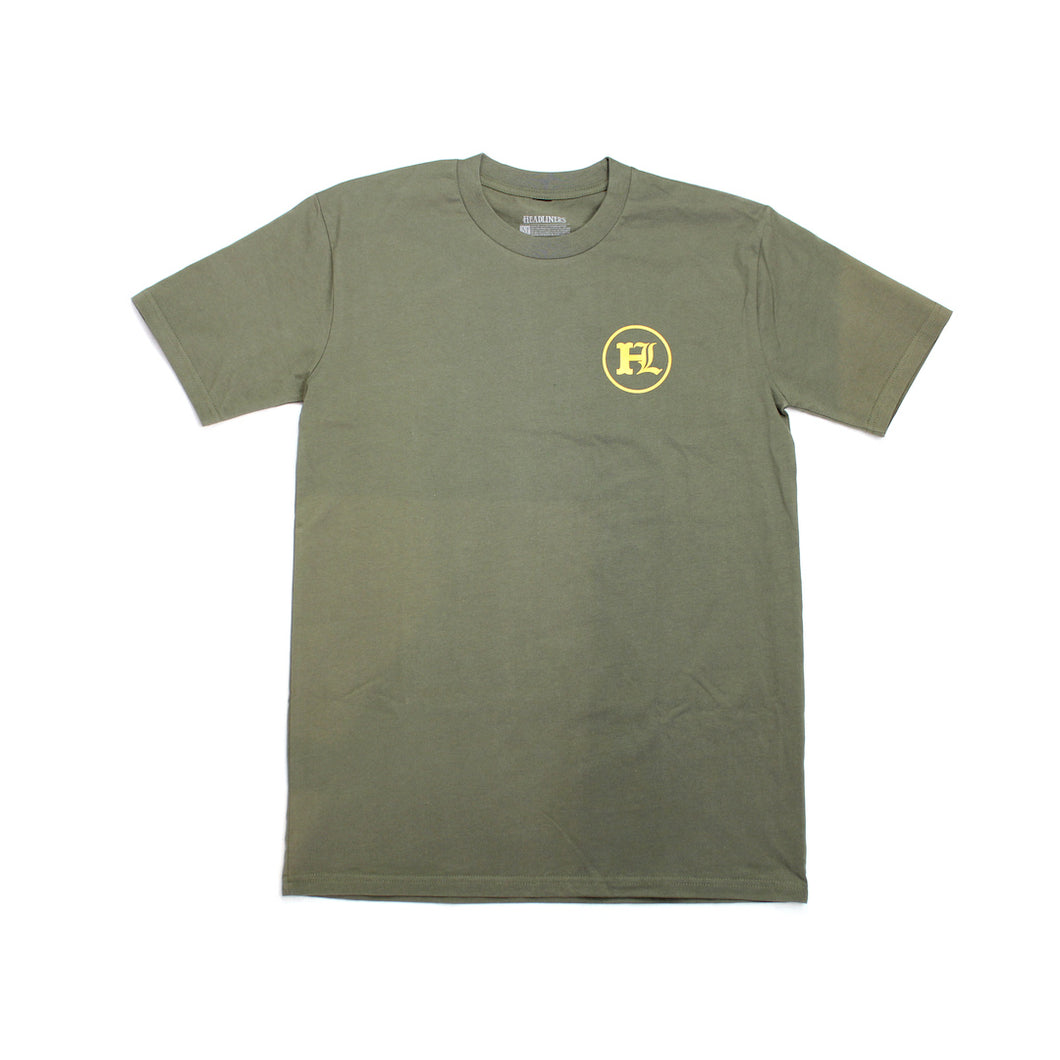 OPP Tee - Army / Orange
