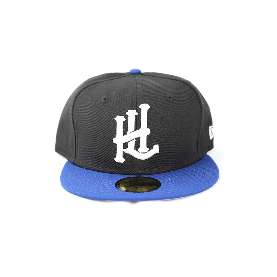 HL Monogram New Era 59Fifty Fitted - Black/Royal
