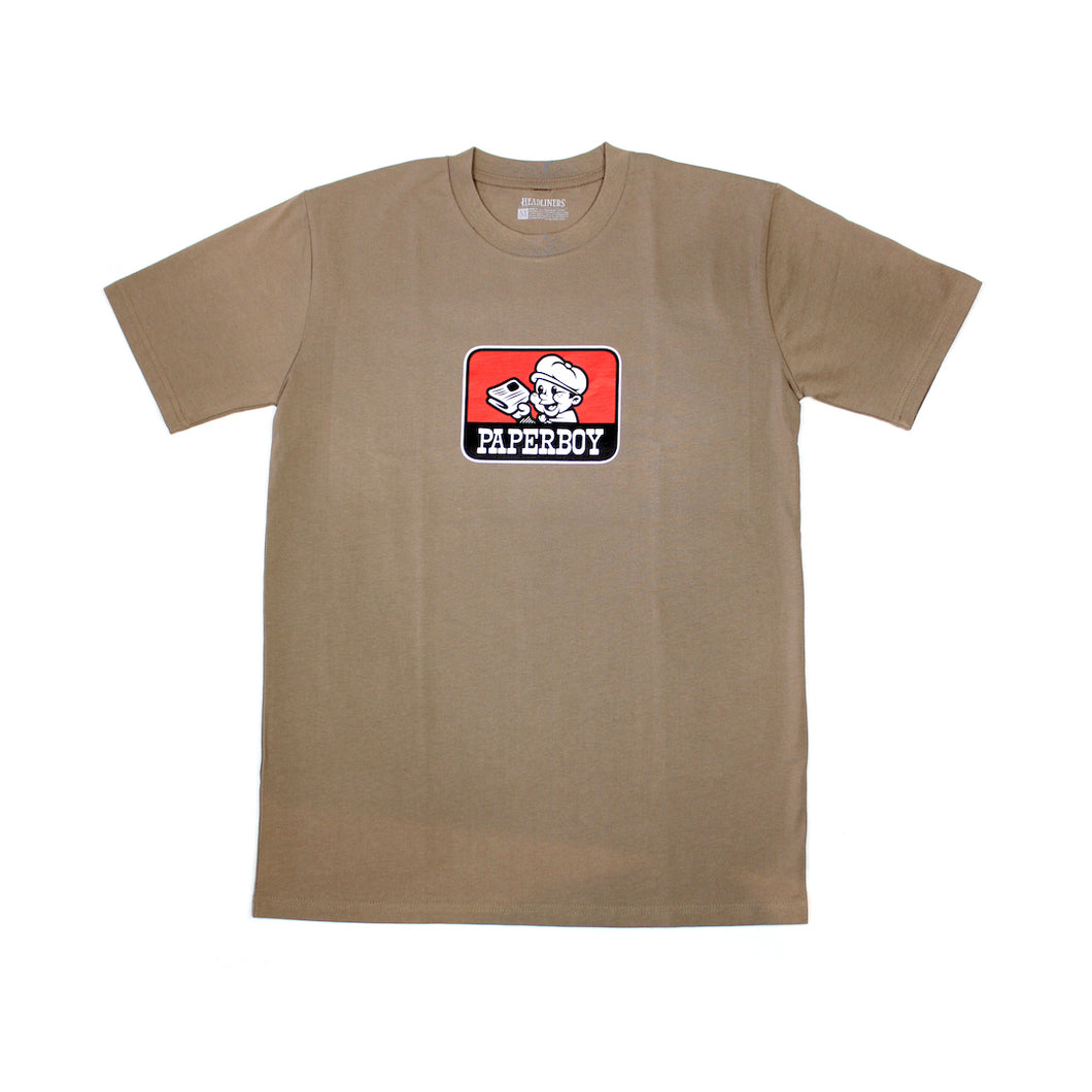 Paperboy Workwear Tee - Coffee