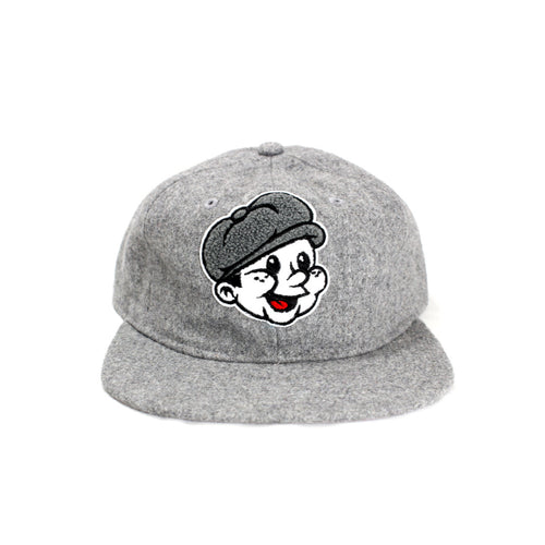 Wool Paperboy Chenille Strapback - Steel