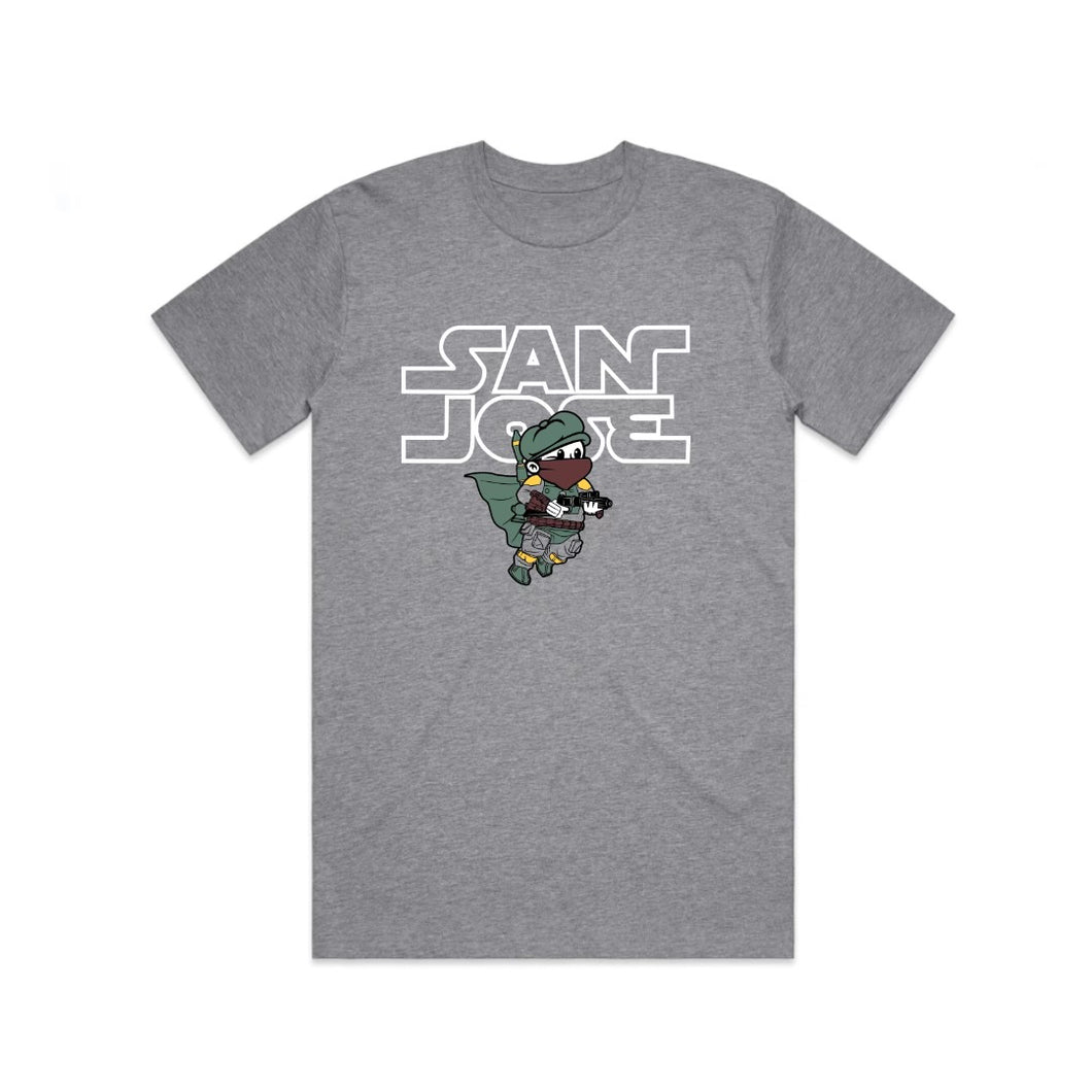 Paperboy Boba Fett Tee - Heather Grey