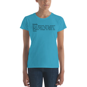 Meaning of Orenda Women's short sleeve t-shirt
