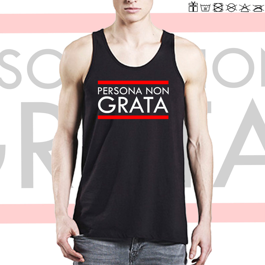 loose fit men tank top persona non grata