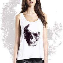 Loose fit tank top FLOWER SKULL