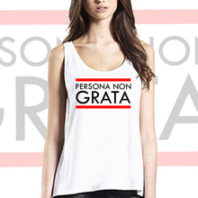 loose fit women tank top persona non grata