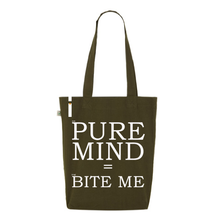 Tote bag PURE MIND (est) = BITE ME (eng)