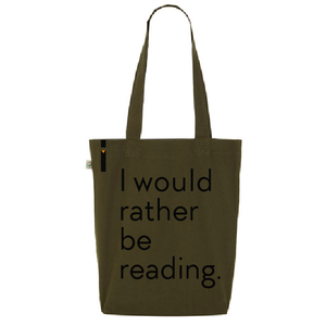 Tote bag RATHER BE READING