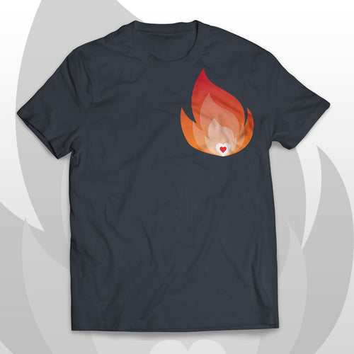 T-shirt HEART ON FIRE