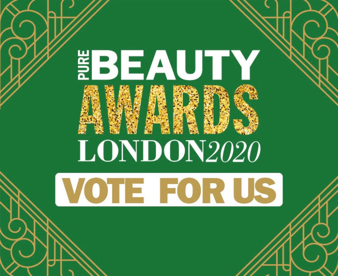Vote for us! ZAZA & CRUZ has been shortlisted for the Pure Beauty Awards London 2020!