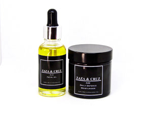 Moisturiser & Facial oil duo - ZAZA & CRUZ