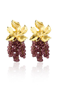 Toscana Earrings in Purple