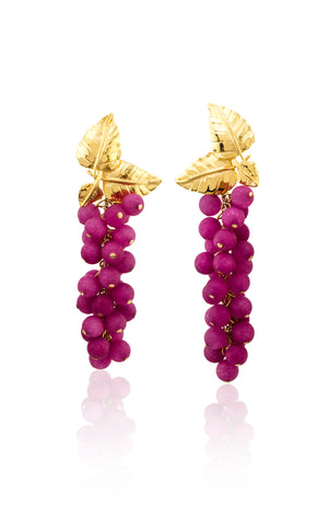 Dafne Earrings in Fuchsia