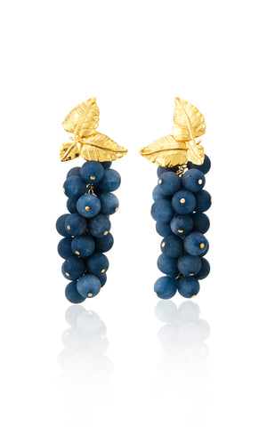 Dafne Earrings in Dusty Blue