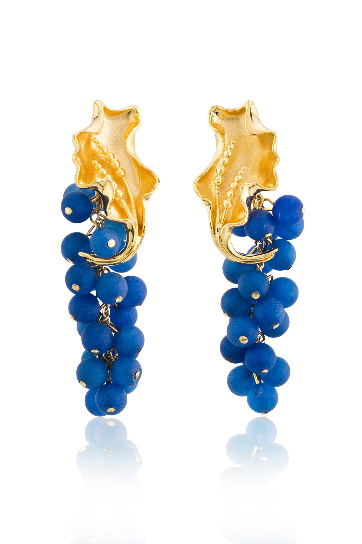 Franca Earrings in Navy