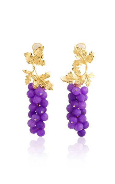 Laila Earrings in Purple