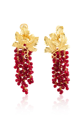 Adile Earrings in Red