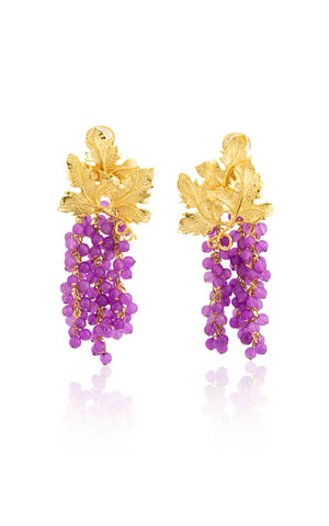 Adile Earrings in Lavender