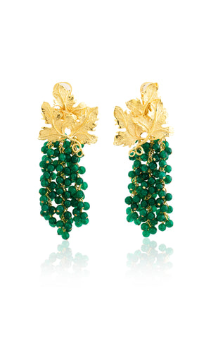 Adile Earrings in Emerald