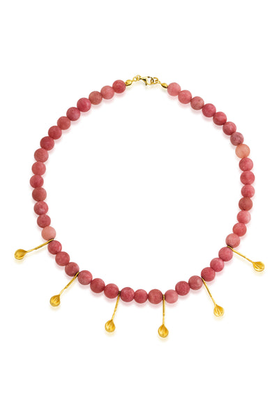 Symi Necklace in Dust Pink