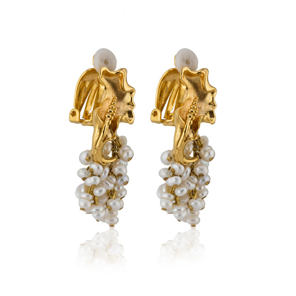 Franca Earrings in Ivory