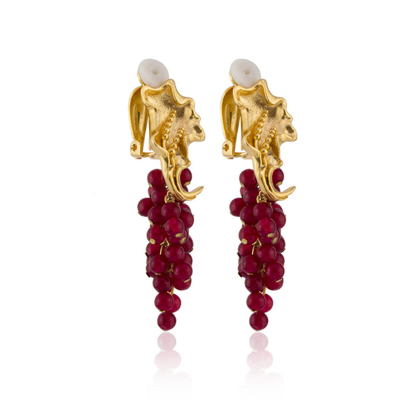 Franca Earrings in Red