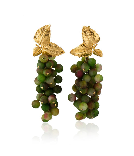 Dafne Earrings in Olive Green