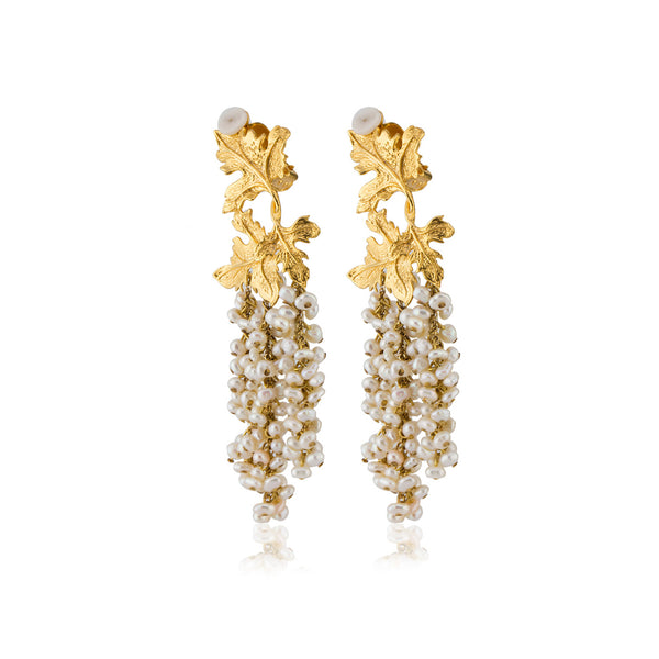 Laila Earrings in Ivory