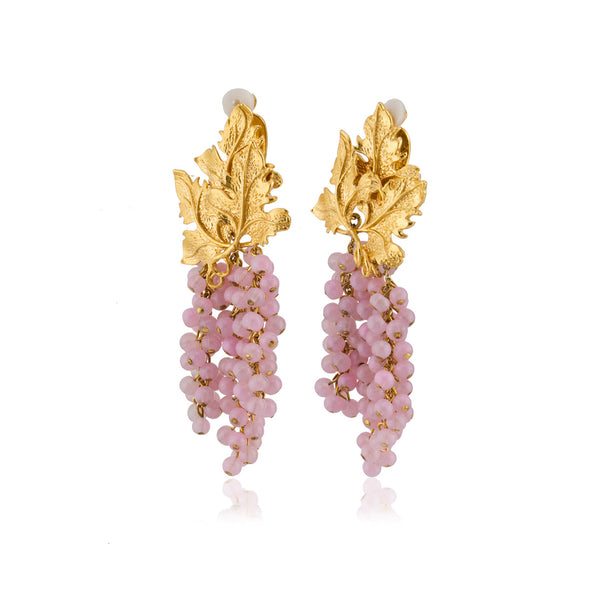 Adile Earrings in Light Pink