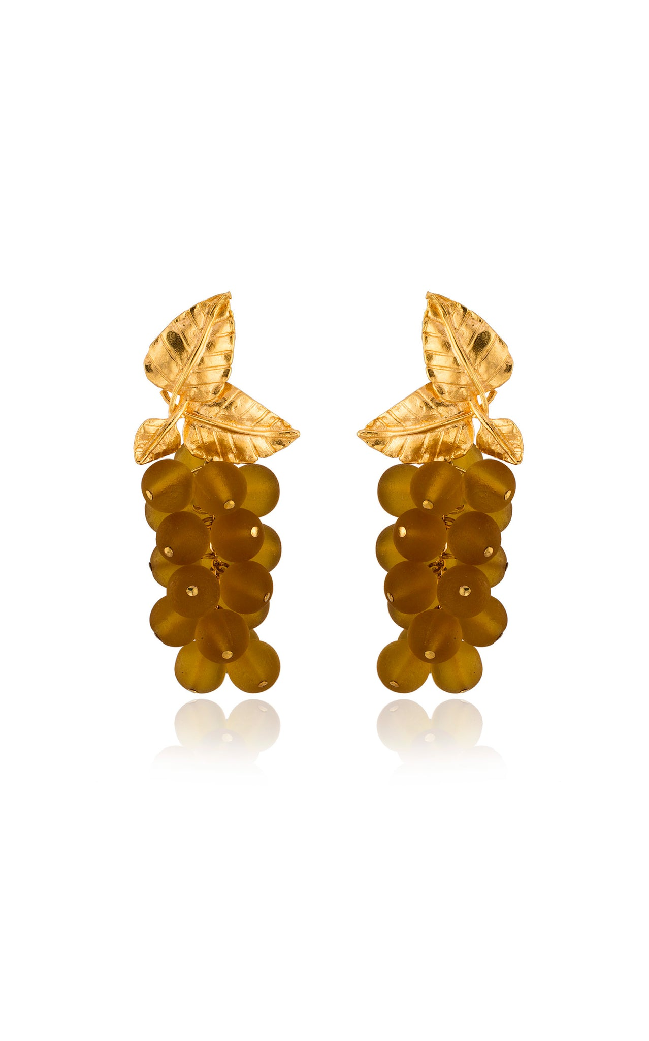 Dafne Earrings in Amber Yellow