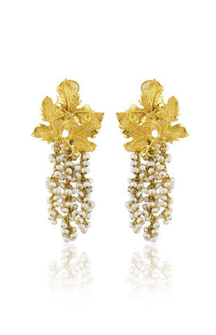 Adile Earrings in Ivory