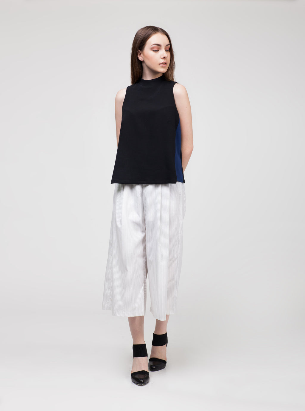 Sleeveless Top with Side Panel