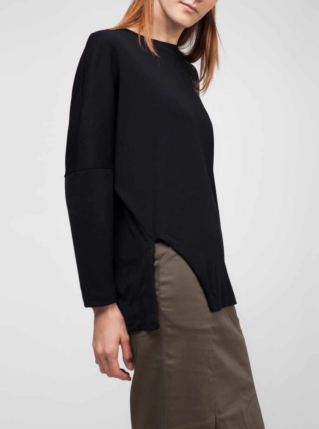Cut-out Long-sleeved Shirt