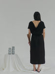 Midi Dress with Drapery Back