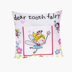 Girls Tooth Fairy Money Pillow Cushion
