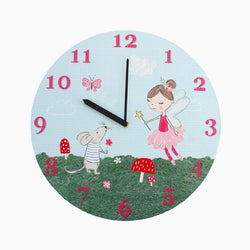 Fleur the Fairy & Marvin the Mouse Wall Clock