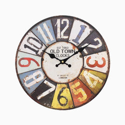 Numbers Retro Wall Clock