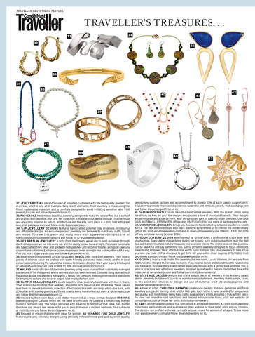 In The Press As seen in Conde Nast Traveller- Iris 1956 Jewelry