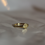 Gold Grace Petite Signet Ring