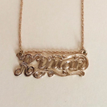 Sincerely, Me Nameplate Necklace - Iris 1956