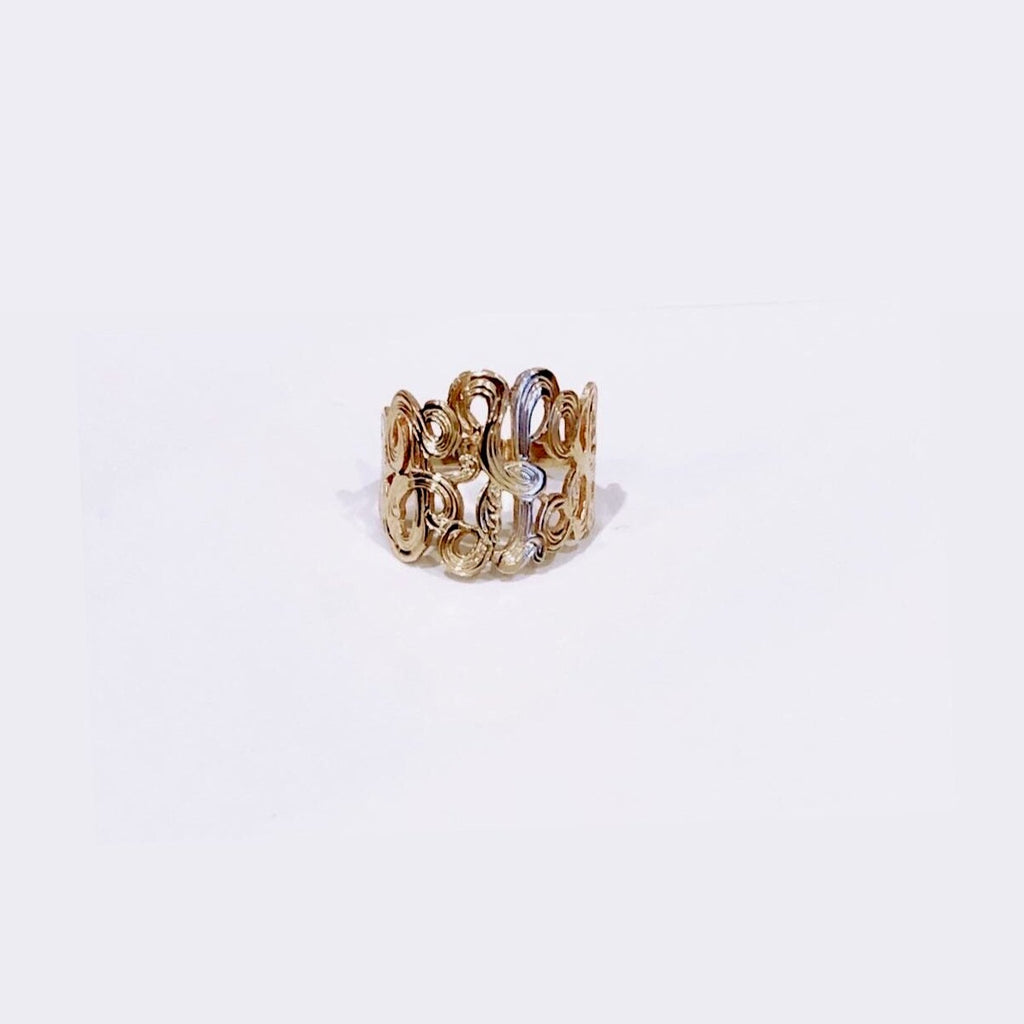 Gold Monogram Ring - IRIS 1956