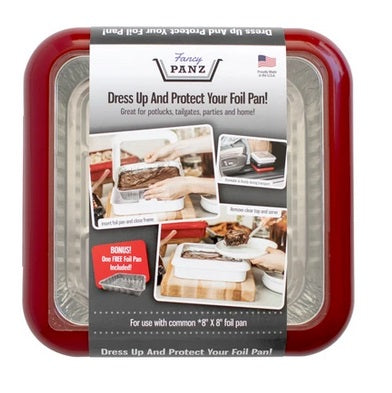 Fancy Panz | 8x8 2-in-1 Portable Casserole Carrier, Red