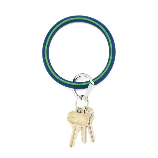 Oventure Big O Leather Key Ring, Mind Blowing Blue