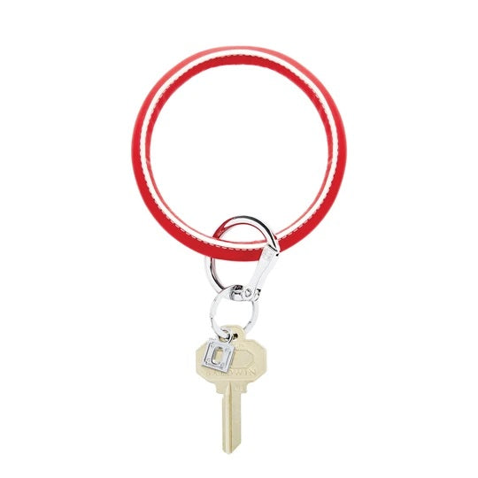 Oventure Big O Leather Key Ring, White Cherry